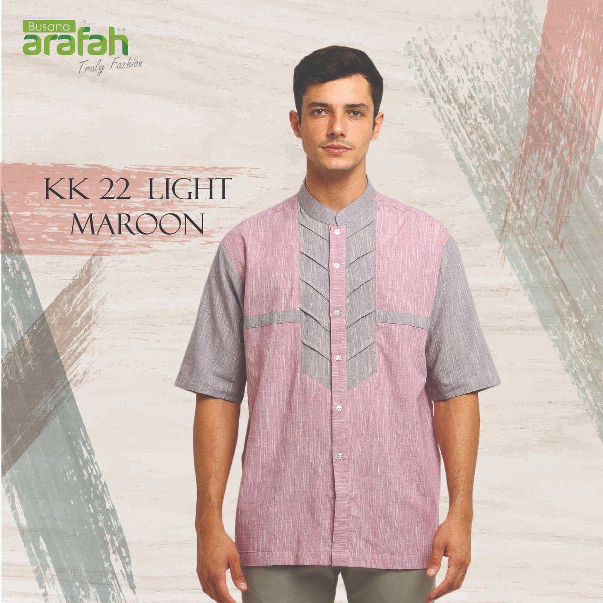 koko couple arafah 22 light maroon