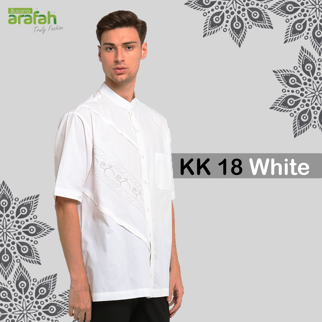 Baju Koko Couple KK 18 White