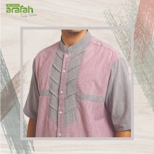 baju koko arafah 22 light maroon