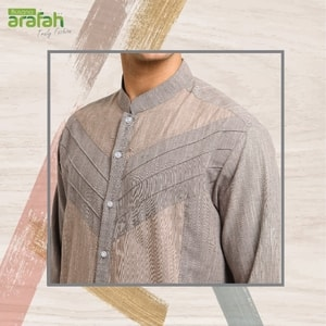 Baju Koko Couple arafah KK 21 Light Brown