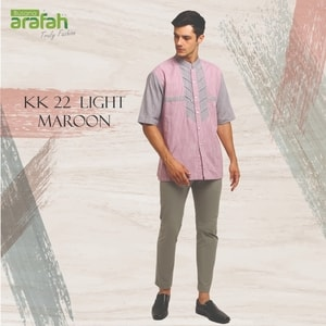 baju koko kk 22 light maroon