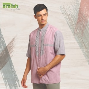 baju koko couple arafah 22 light maroon