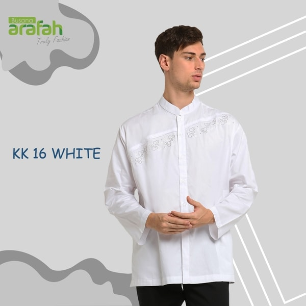 Baju Koko Couple KK 16 White
